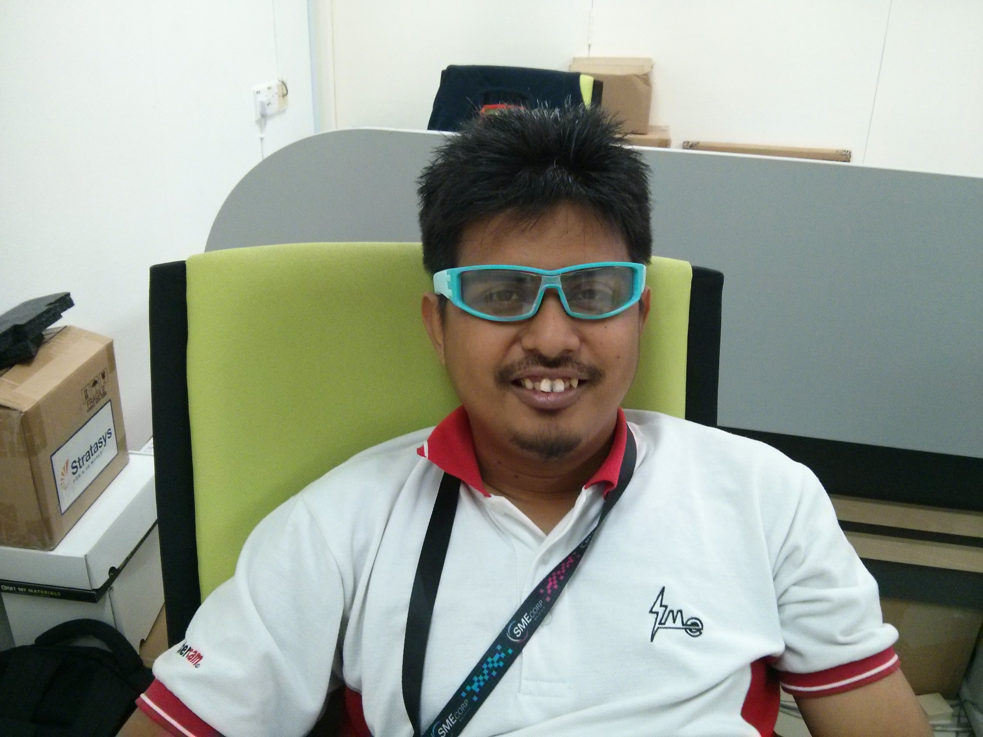 Ezrul wearing 3D Printed Spectacle