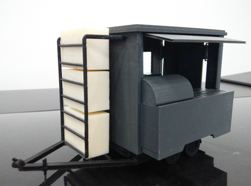 Concept model for mobile kiosk cart rapid model for Mobili kios