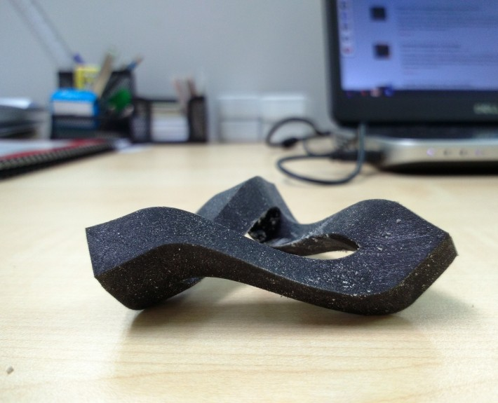 3D Printed Impossible Triangle - Bottom View