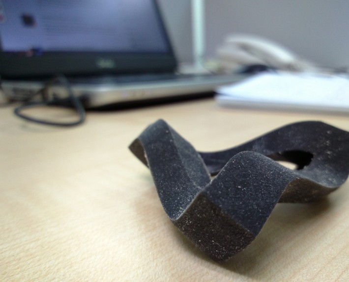 3D Printed Impossible Triangle - Side View